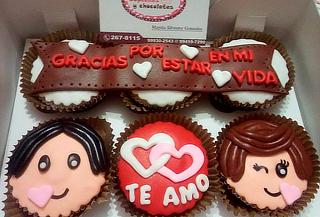 ¡Dulce San Valentín! Cupcakes 3D con Mensaje Personalizado