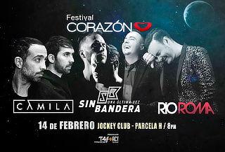 Concierto Tour Oficial Festival Corazón en el Jockey Club