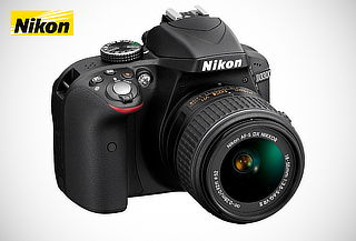 Cámara Nikon D3300 Gris c/18-55mm VR AF-P