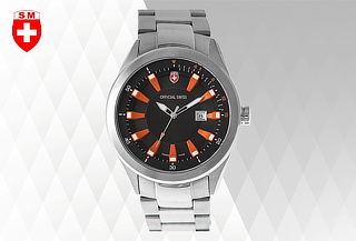 Reloj Official Swiss® Cuarzo Suizo P/Hombre + Envío Gratis