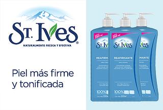 ¡Siempre Regia! Pack de 03 Cremas ST Ives Reafirmante