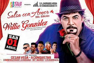 ¡Salsa con Amor! Willie Gonzales + César Vega y Más Artistas