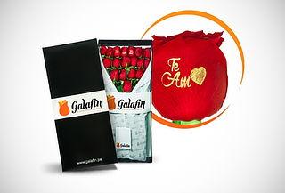 ¡Hermoso! Rosas con Mensaje Impreso+ Tarjeta y Más - GALAFIN