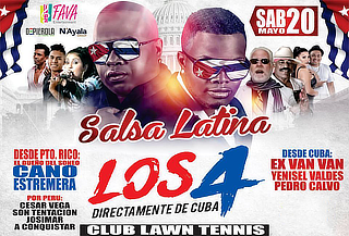 ¡Salsa Latina! Los 4 de Cuba + Cano Estremera y Mucho Más