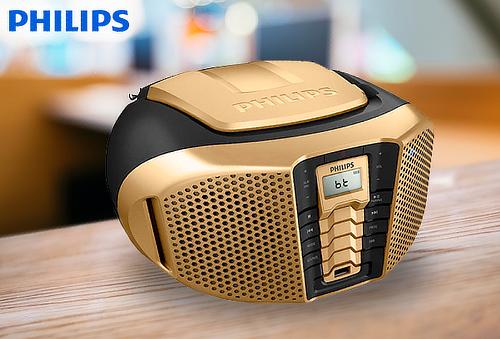 Radio Grabadora Philips 5W con MP3, Bluetooth y Más