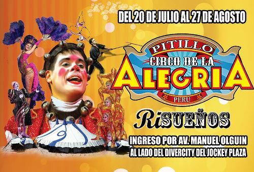 """""""El Circo de La Alegría de Pitillo"""" - Entrada Zona Central"""
