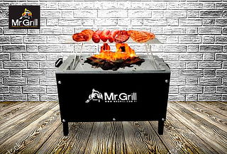 Caja China Mr. Grill® Edition Black + Parrilla + Funda y Más