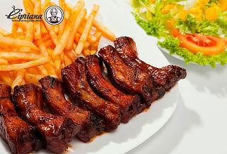 ¡Costillas BBQ para 2 o 4! + Papas y Más en Cipriana