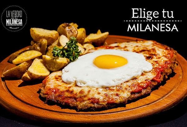Menú para DOS en La Verdad de la Milanesa. 4 SEDES