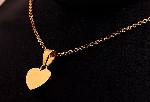 d44243b05ead ¡Para el Amor de Tu Vida! Collar Corazón Enchapado Oro 18Kt