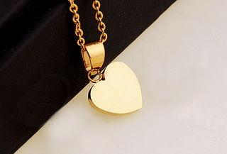 ¡Para el Amor de Tu Vida! Collar Corazón Enchapado Oro 18Kt