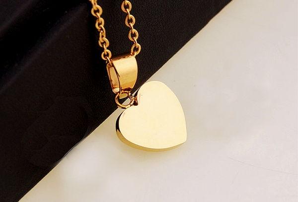 9f235383779b Collar Corazón Enchapado Oro 18Kt