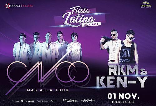¡Fiesta Latina en Lima y Arequipa con CNCO, RKM y Más!