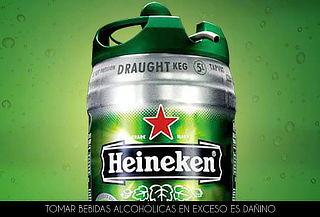 Barril de 5 Litros de Cerveza Heineken
