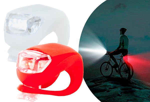 ¡Maneja Seguro! Pack de 2 Luces Led para Bicicleta