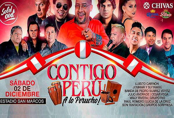 ¡Contigo Perú! Disfruta de tus Artistas Favoritos ¡Corre!