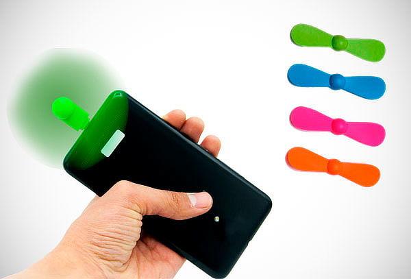 ¡Práctico, de Bolsillo! Ventilador para Dispositivos Android