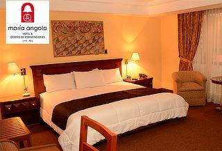 ¡Hotel María Angola!Noche Romántica + Desayunos y Más para 2