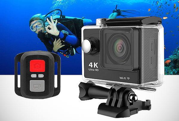 Cámara Filmadora Acuática 4K Ultra HD + Control