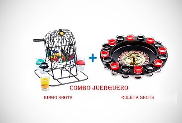 ¡Pack Juerguero! Juego de Ruleta Shots + Bingo Shots