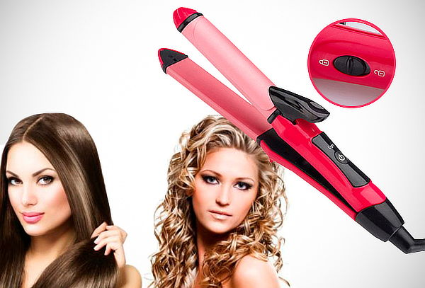 Laceadora Rizadora para cabello 2 en 1