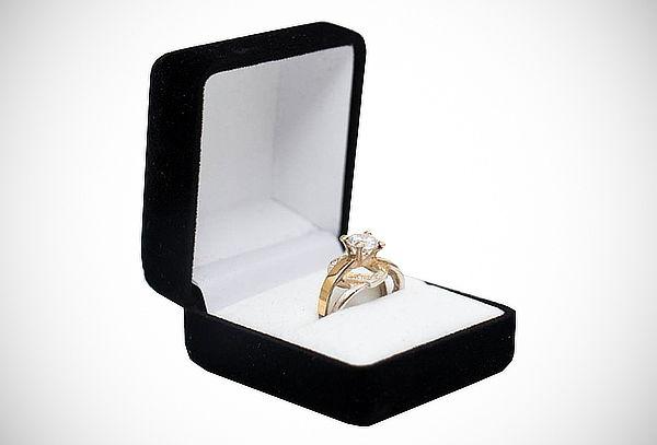 anillo de compromiso de plata con oro de 18k   cuponatic.pe