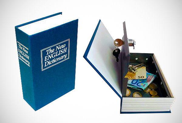 ¡Seguridad en Casa! Caja Fuerte Modelo Libro con Llave
