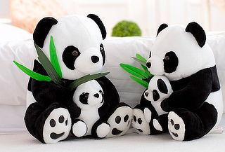 ¡Engríela! Peluche Oso Panda con Cría Antialérgico