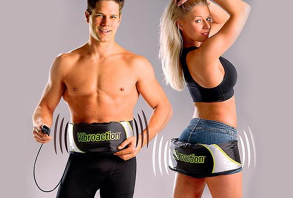 ¡Faja Vibraction Cinturón Reductor Ejercitador Abdominal!