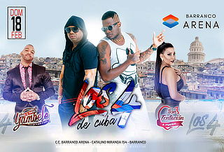 ULTIMAS ENTRADAS!!  Los 4 de Cuba, Son Tentación y Mas