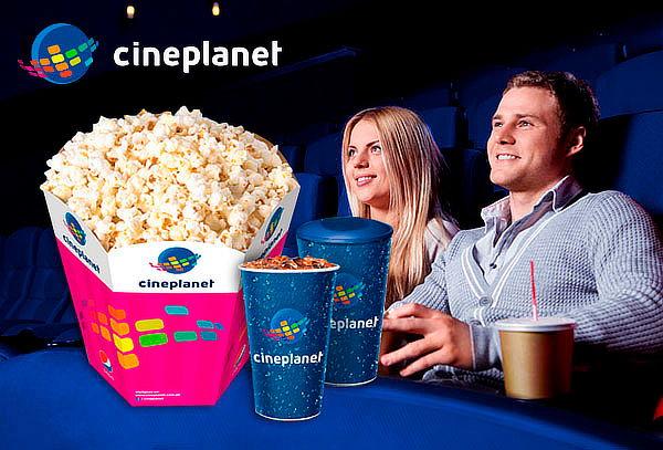 Cineplanet: 2 Entradas + Combo Recargable