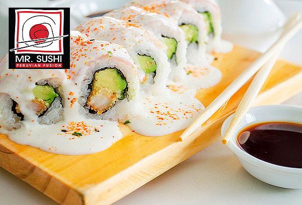 Barra Libre + 2 Bebidas en Mr. Sushi