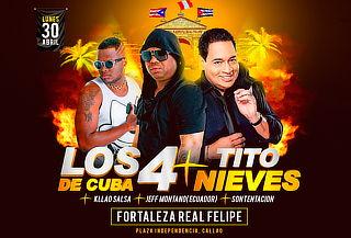 OFERTÓN ¡Los 4 de Cuba y Tito Nieves en Concierto!