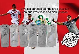 ¡Vive la Fiebre del Mundial! Pack de 6 vasos de Peru