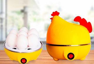 2x1 - Hervidor Eléctrico Para 7 Huevos (En Forma De Gallina)