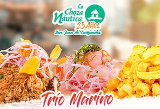 Trío Marino para Dos - Ceviche + Chicharrón + Arroz
