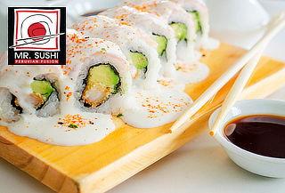 Barra Libre de Makis + 2 Bebidas en Mr. Sushi
