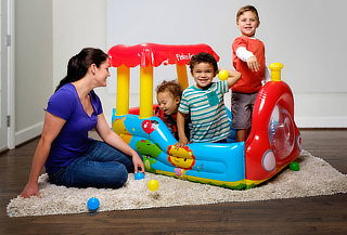 Tren Inflable + 25 Pelotas - Fisher Price