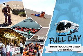 Paracas + Huacachina + Chincha ¡05 Puntos de Salida!