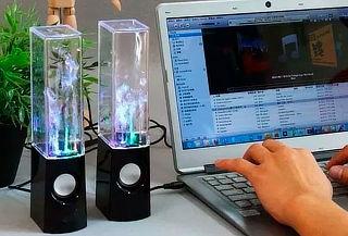 Parlante De Agua Rítmica Con Luces Led En Caja