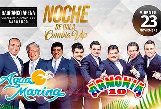 ¡Noche de Cumbia! Agua Marina & Armonía 10 en Concierto