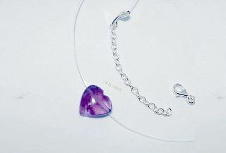 18dec49904af Collar Invisible Piedra Natural de Pura Plata 950