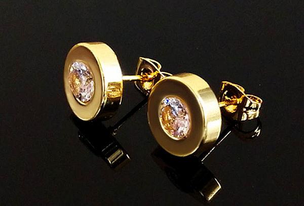 3cf963533442 ¡Mejor precio! ¡Set de Lujo! 2 Pares de Aretes Enchapado en Oro de 18KL
