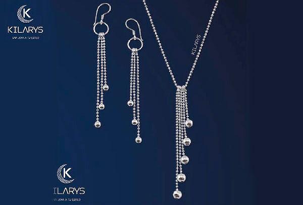 Collar y Aretes Largos Elegantes y Delicados - Kilarys ... ec556fd918d