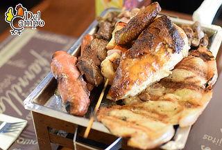 ¡Parrilla para 02! Pollo + Chuleta + Mollejitas +Papas y más