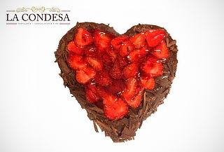 Torta en de Chocolate en Forma de Corazon !! San Valentin