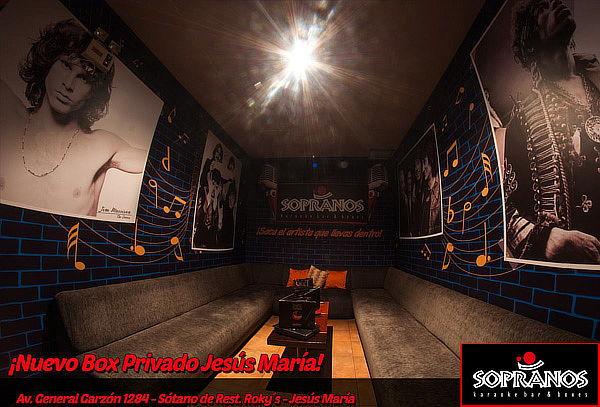 ¡Sopranos Karaoke! 02 Pisco Sours + Piqueo - 24 Sedes