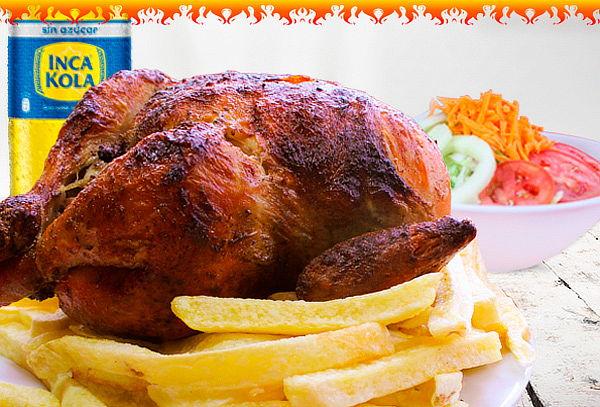 1 Pollo + Papas + Ensalada - Mr. Leña