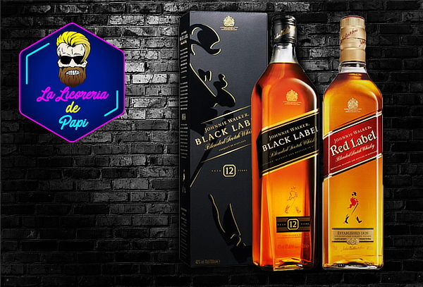 Paga S/  145 00 en S/ 160 por combo de fiestero que incluye 01 whisky  Johnnie Walker Back Label + 01 whisky Johnnie Walker Red Label con La  Licorería