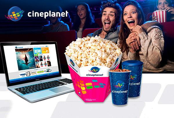 Cineplanet Online: 2 Entradas + Combo Recargable